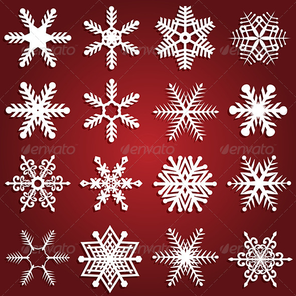 GraphicRiver Snowflake designs 3282572