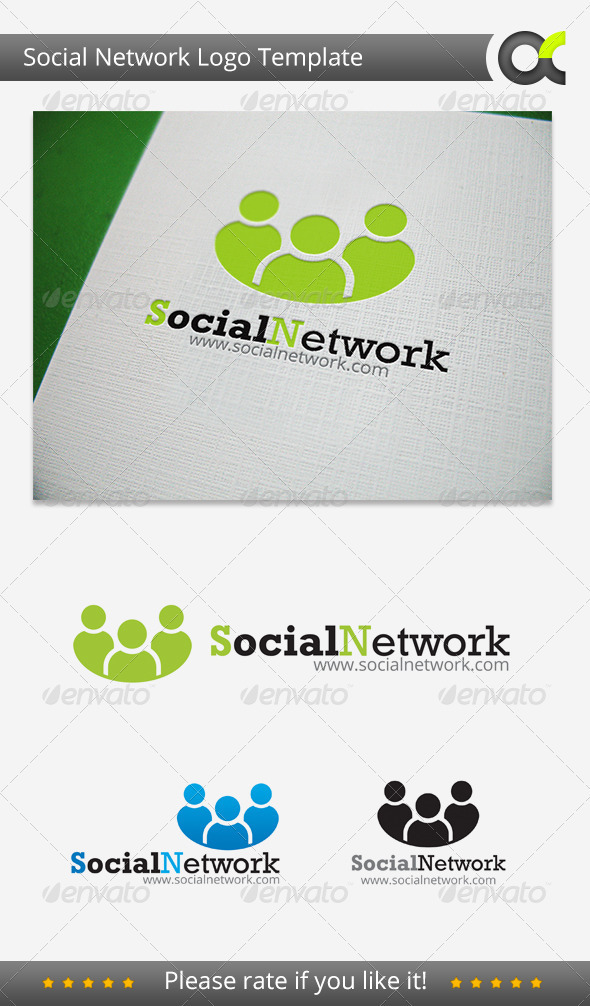 Social Network Logo - Humans Logo Templates