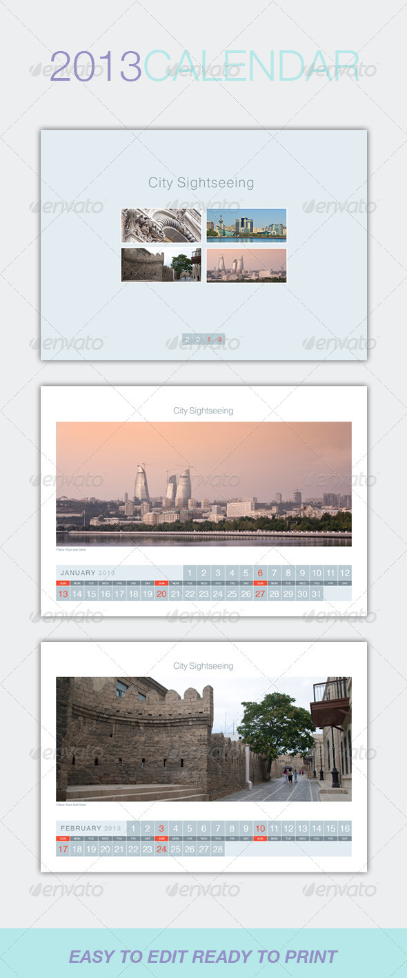 GraphicRiver Table Calendar 2013 3253950