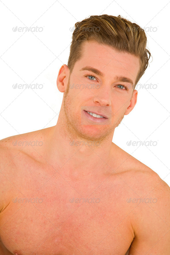 bare-chested man - Stock Photo - Images