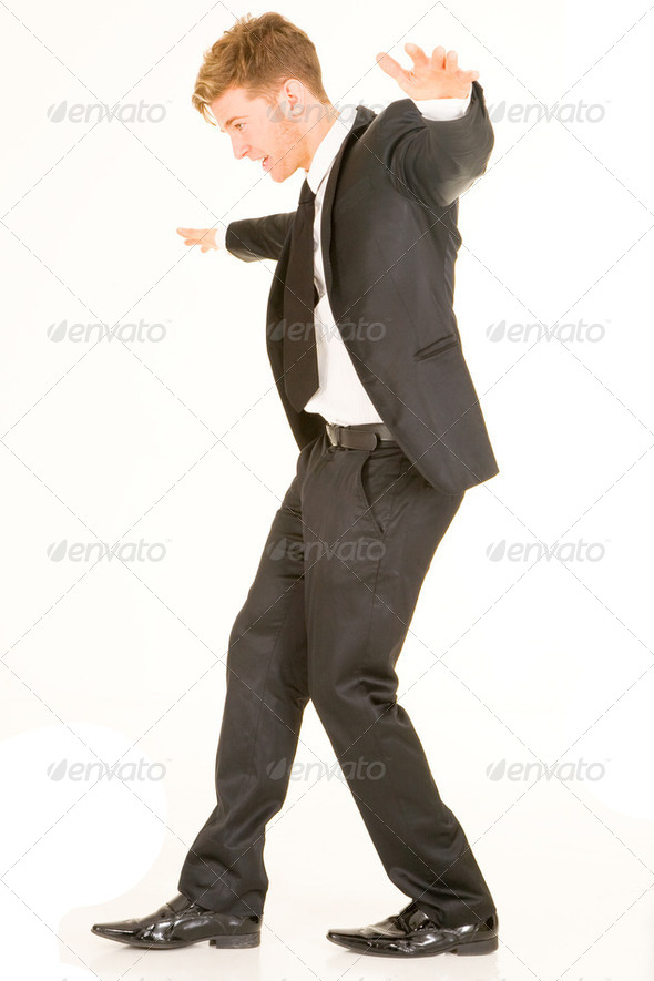 businessman in balance - Stock Photo - Images