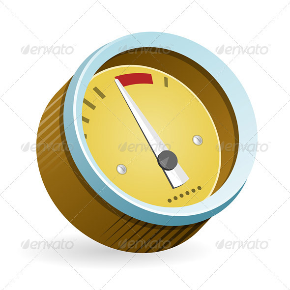 GraphicRiver Speedometer Icon Illustration 3283919