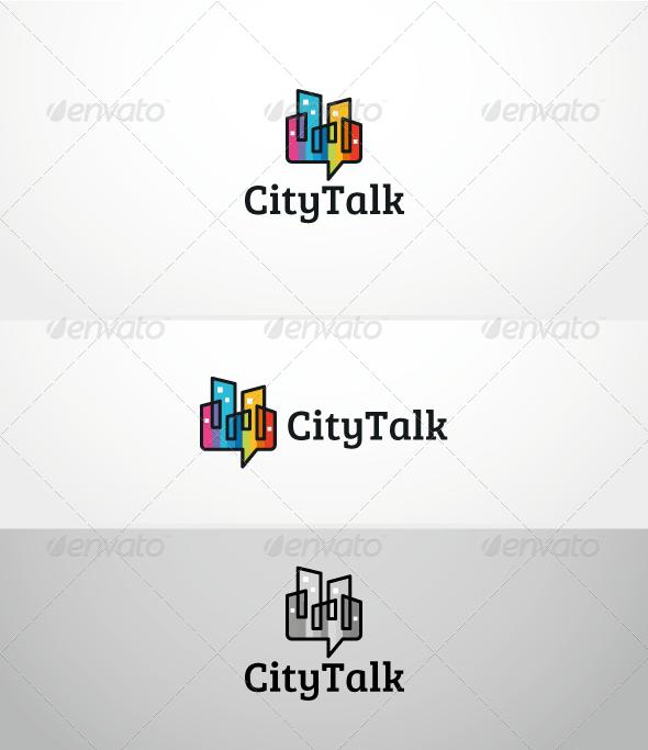 GraphicRiver CityTalk Logo Template 3284000