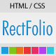 RectFolio - One Page Template - ThemeForest Item for Sale
