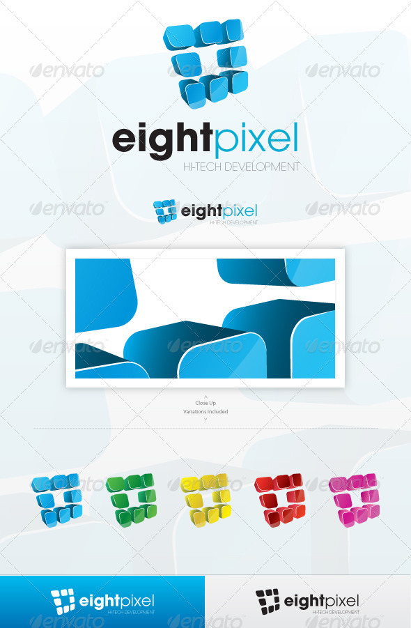 Eight Pixel - Abstract Logo Templates