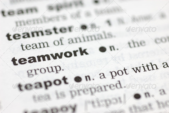 Definition of teamwork - Stock Photo - Images