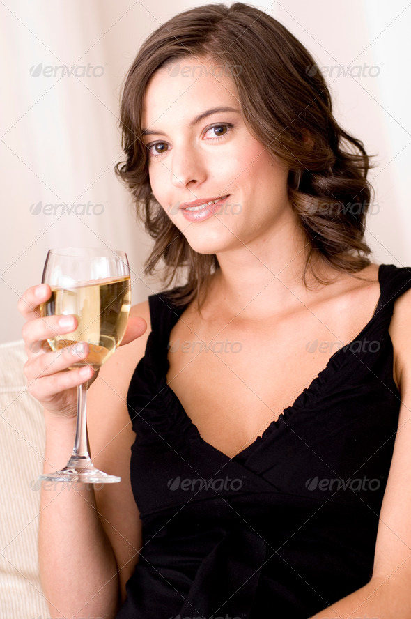 Relaxing With Wine - Stock Photo - Images