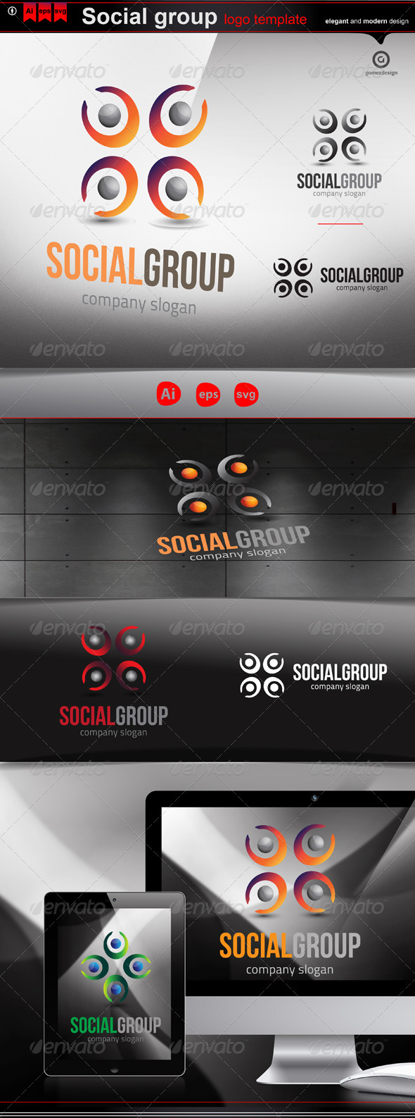 GraphicRiver Social group 3285973