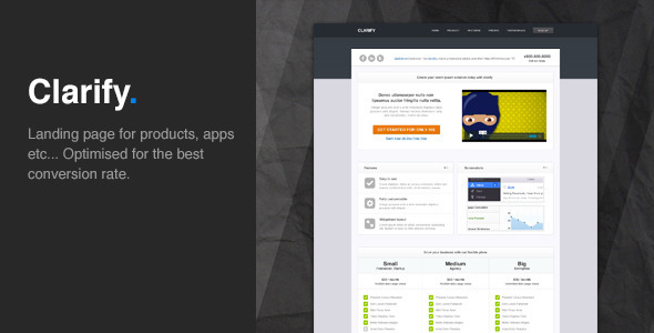 Clarify - Landing page that convert - Creative Landing Pages