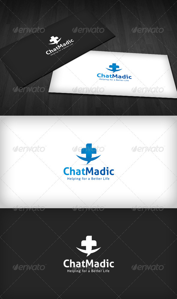 GraphicRiver Chat Madic Logo 3286147