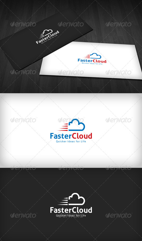 GraphicRiver Faster Cloud Logo 3286151