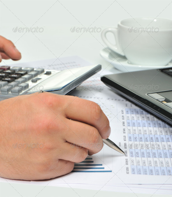 Workplace of the businessman. - Stock Photo - Images