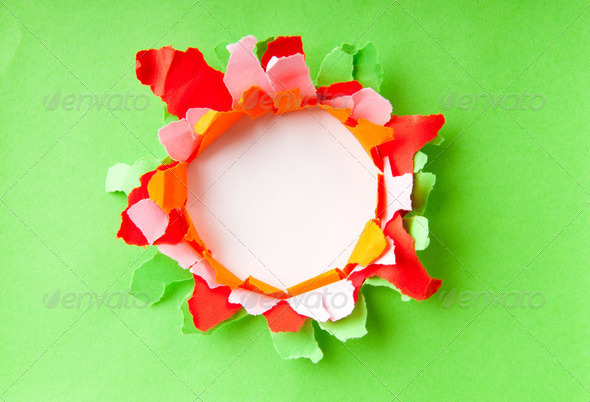 Paper pieces with space for your message - Stock Photo - Images