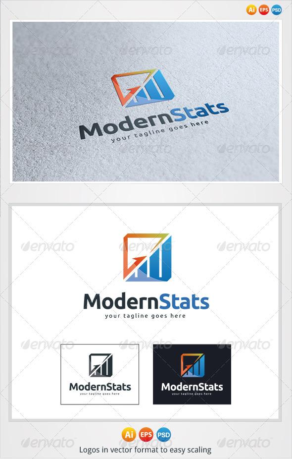 GraphicRiver Modern Stats Logo 3275656