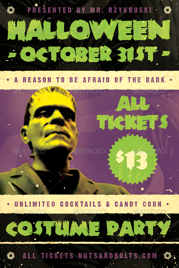 GraphicRiver Frankenfest Halloween Flyer Template 3287798