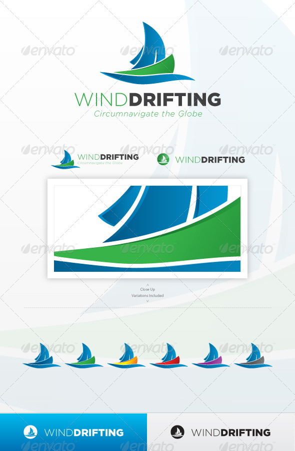 Wind Drifting - Objects Logo Templates