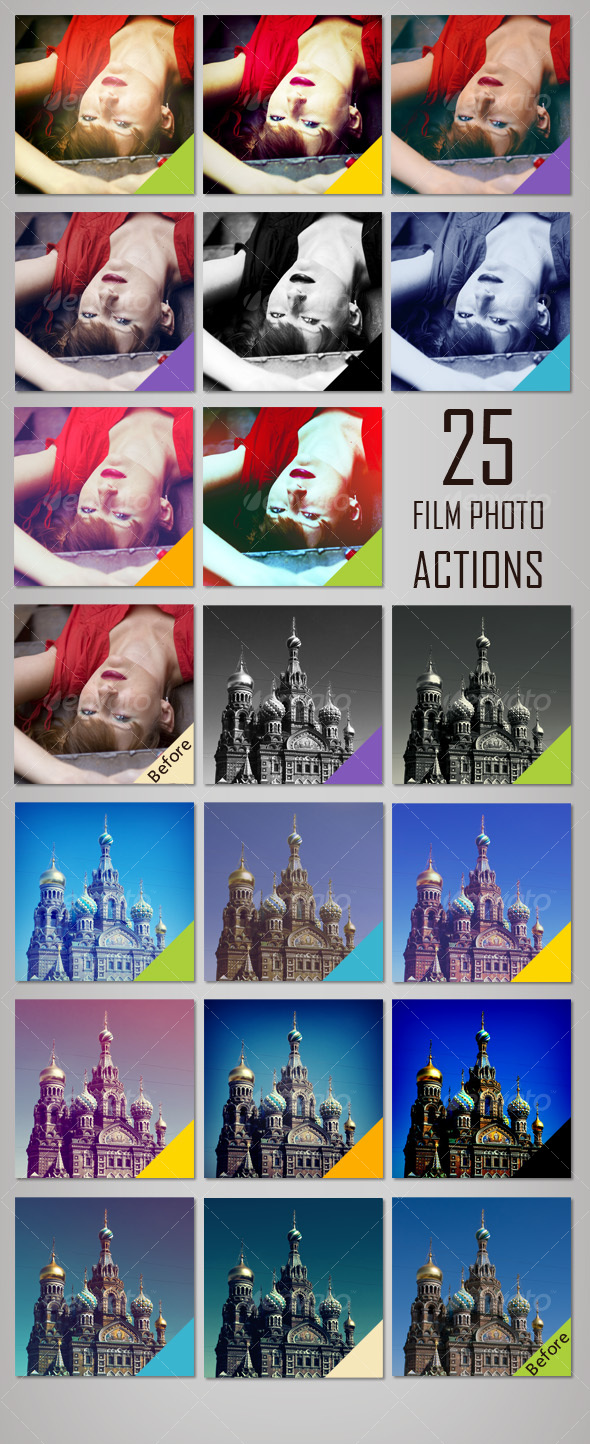 GraphicRiver 25 Film Photo Actions 116024