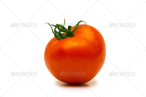 Red tomatoe isolated on the white background - Stock Photo - Images