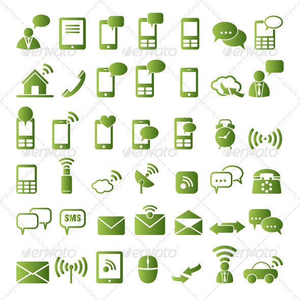GraphicRiver Communication Icons 3288277