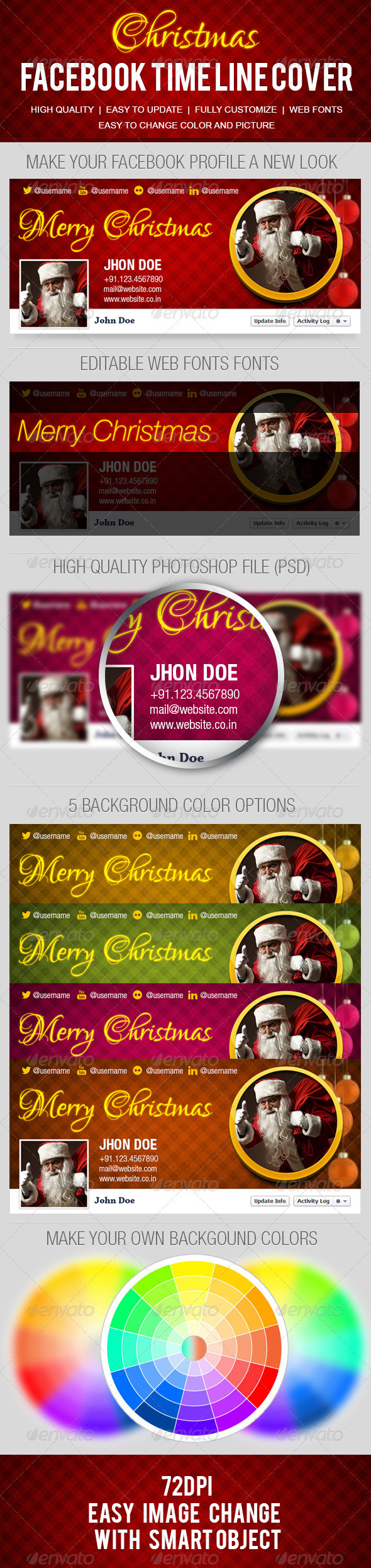 GraphicRiver Christmas FB Time Line Cover 3289165