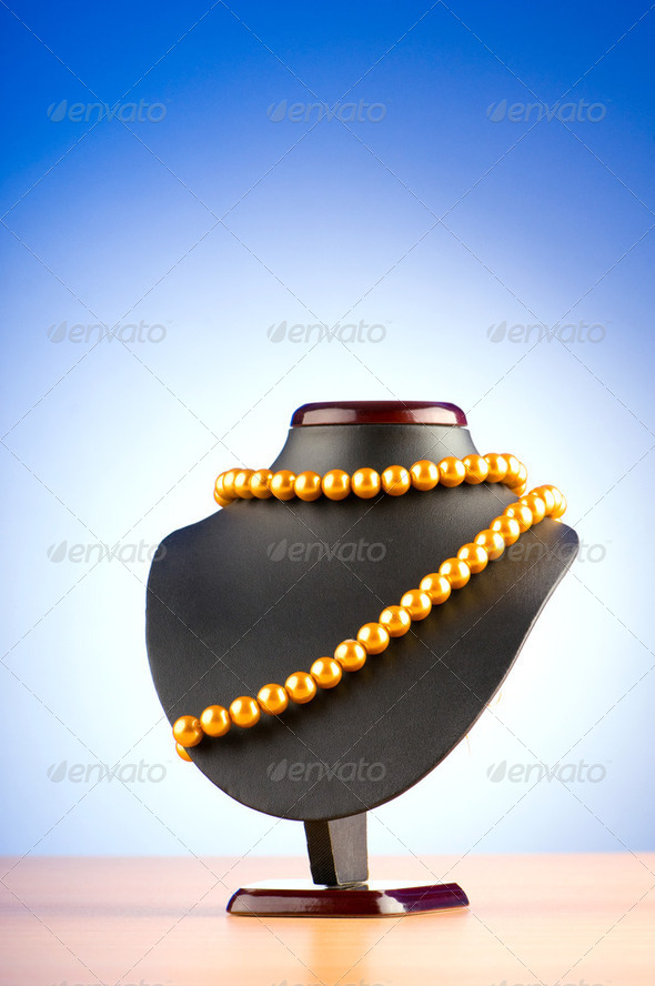 Stand with necklace in fashion concept - Stock Photo - Images
