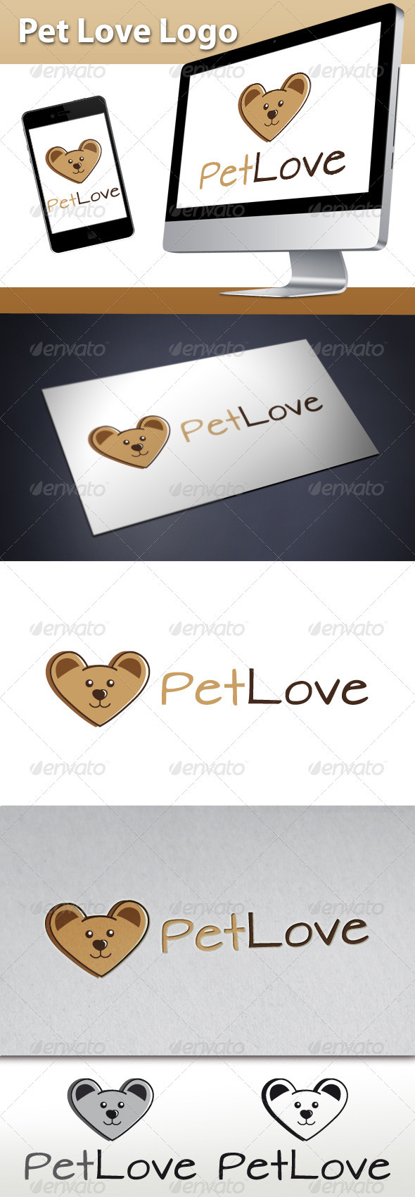 GraphicRiver Pet Love Logo 3284644