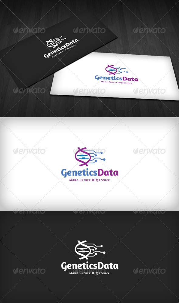GraphicRiver Genetics Data Logo 3290469