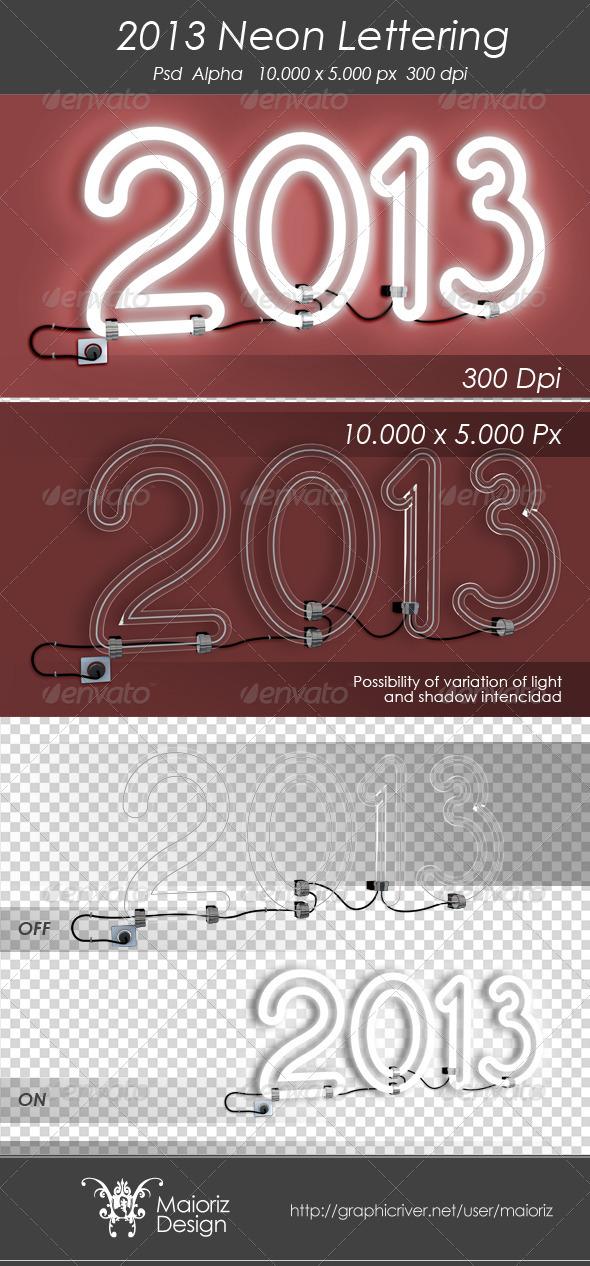 GraphicRiver 2013 Neon Sign 3290576