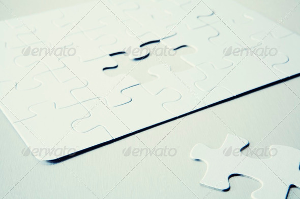 Jigsaw Puzzle With Missing Piece - Stock Photo - Images