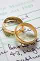 Gold Wedding Rings On Marriage Certificate - PhotoDune Item for Sale