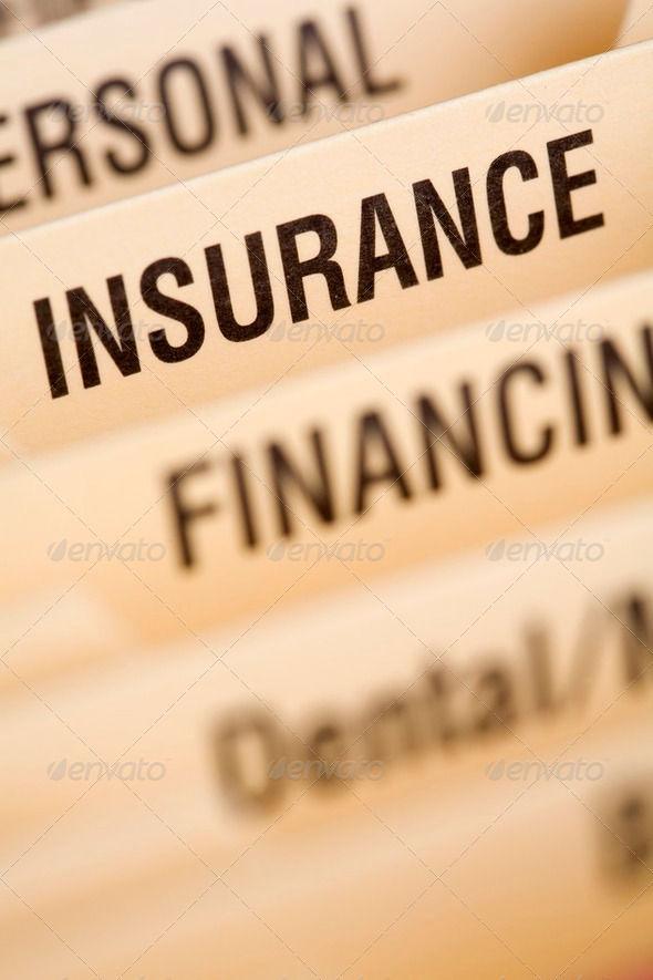Close up of folder for housheold bills - Stock Photo - Images