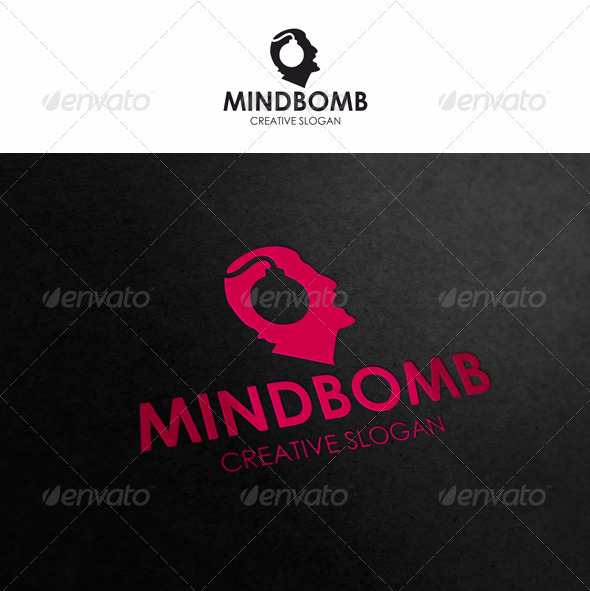 Mind Bomb - Brainstorm Logo - Humans Logo Templates