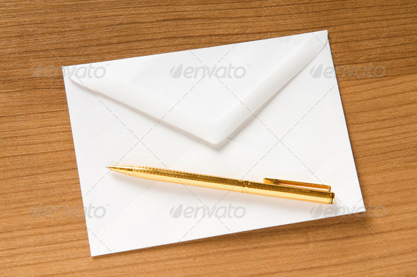 Mail concept with many envelopes on the table - Stock Photo - Images