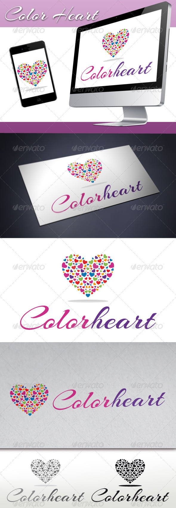 GraphicRiver Love Color Heart Logo 3285555