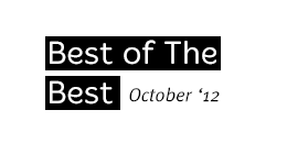 Best of the Best - Oct. 2012