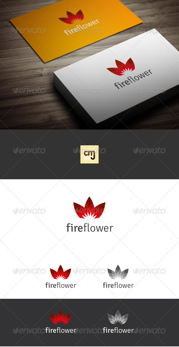 Fire Flower Logo Template - Nature Logo Templates