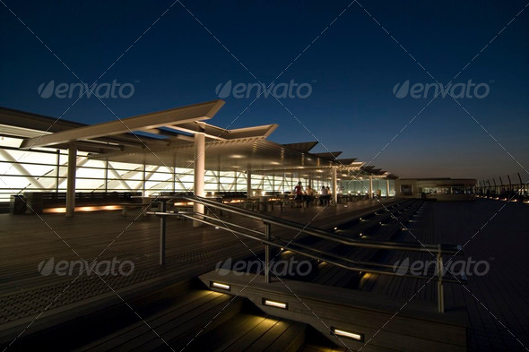 night terrace - Stock Photo - Images