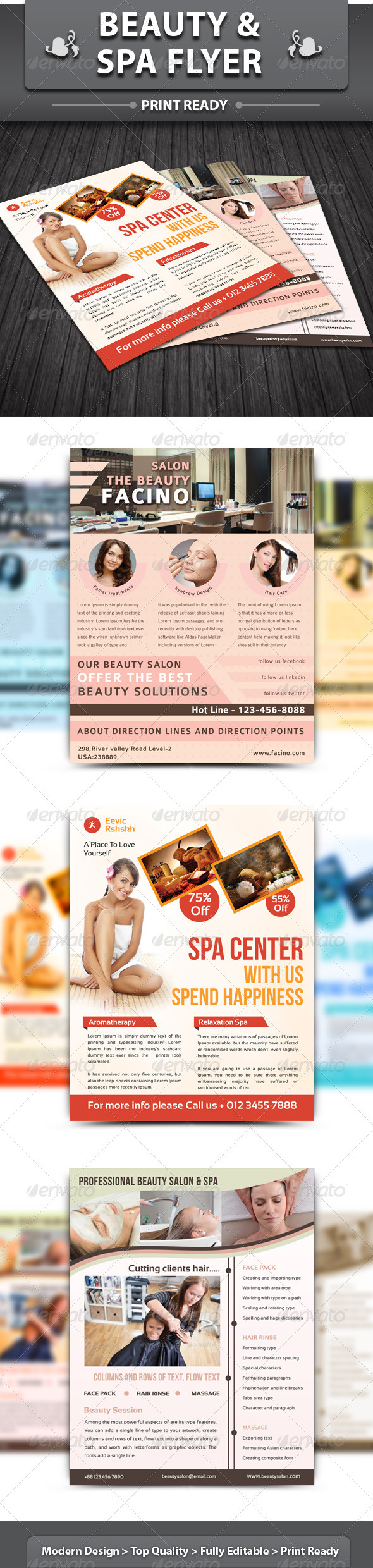 GraphicRiver Beauty & Spa Flyer 3295285
