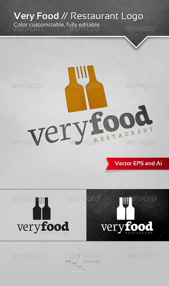 Very Food - Restaurant Logo - Food Logo Templates