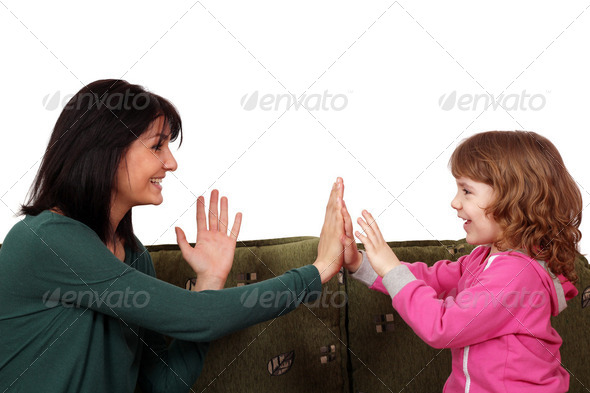 Happy mother and daughter - Stock Photo - Images