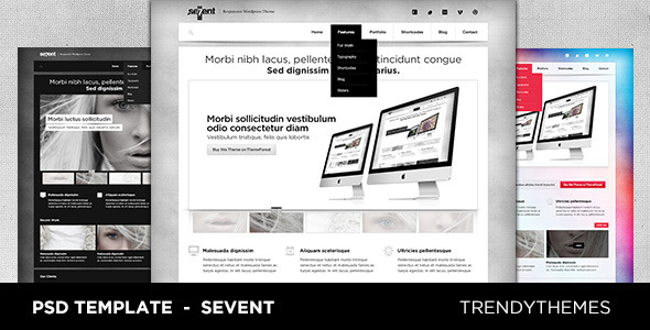 Sevent PSD Template