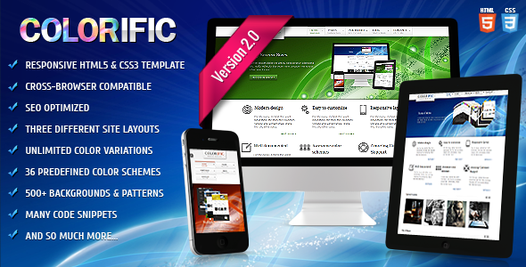 ThemeForest Colorific Responsive HTML5 Template 3083215