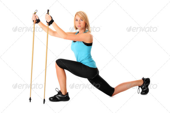 Nordic walking - Stock Photo - Images