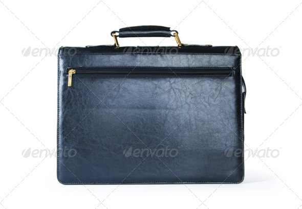 Leather case isolated on the white background - Stock Photo - Images