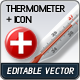 Vector: Thermometer plus Medicine Icon - GraphicRiver Item for Sale