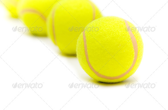 Tennis balls isolated on the white background - Stock Photo - Images