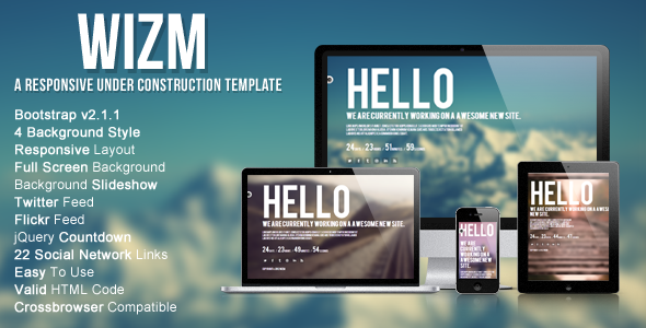 Wizm is Responsive under construction