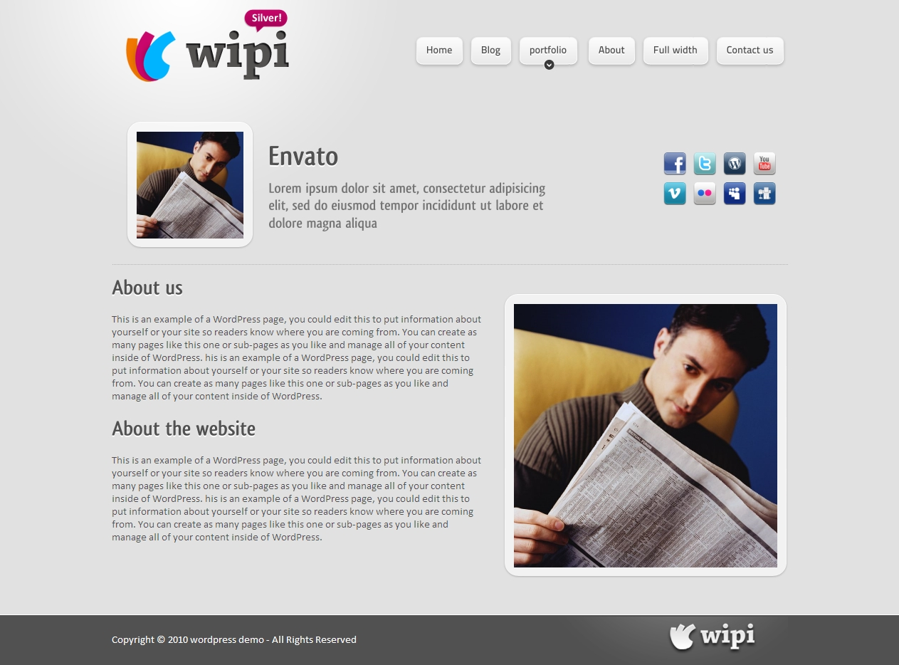 Wipi Wordpress Theme V 1.0 : 4 in1