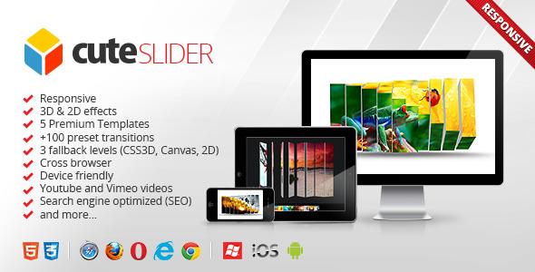 CodeCanyon Cute Slider 3D & 2D HTML5 Image Slider 3046001