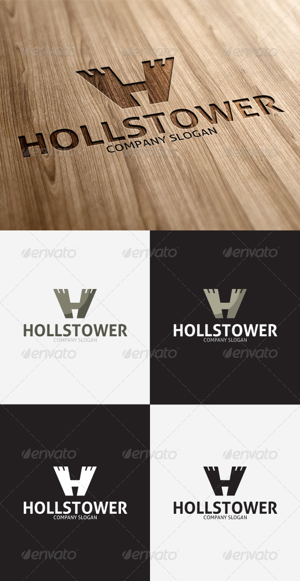 GraphicRiver Holls Tower H Letter Logo 3297400